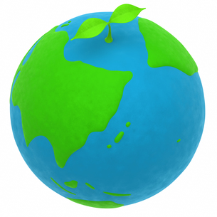 地球と植物のエコメージの写真素材 [FYI00166251]
