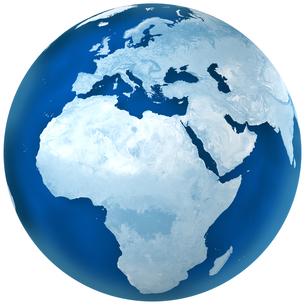 青色の地球 アフリカとヨーロッパの写真素材 [FYI00166287]