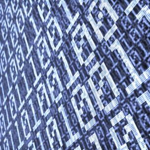 青いバイナリーコード 被写界深度ありの写真素材 [FYI00166293]