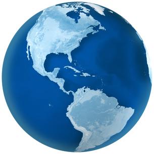 青色の地球 北アメリカと南アメリカの写真素材 [FYI00166295]