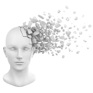 破裂する頭部模型の写真素材 [FYI00166296]