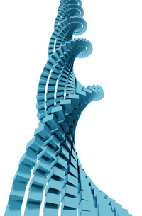 DNA メタルキューブの写真素材 [FYI00166300]