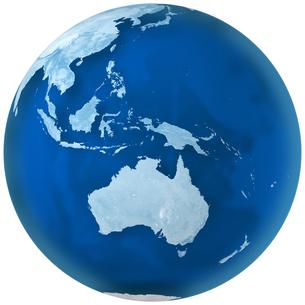 青色の地球 オーストラリアの写真素材 [FYI00166301]