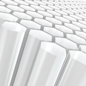 白い半透明な六角形の写真素材 [FYI00166310]