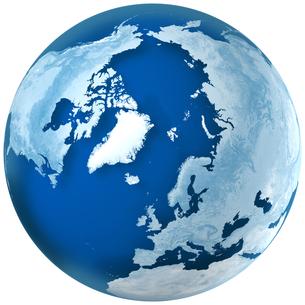 青色の地球の写真素材 [FYI00166324]