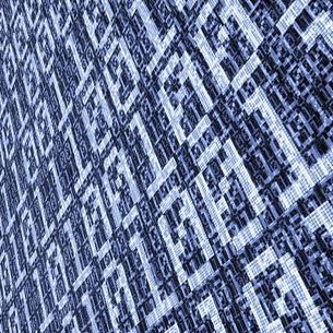 青いバイナリーコード 被写界深度なしの写真素材 [FYI00166326]