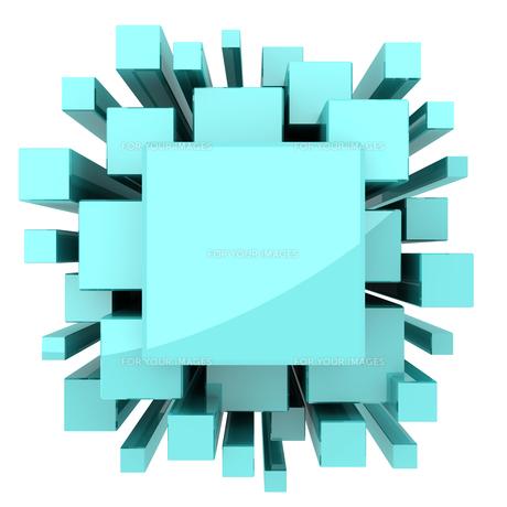 水色の立方体のバックグラウンドの素材 [FYI00166353]
