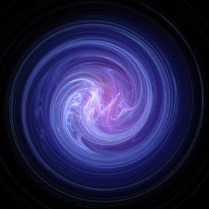 青と紫の渦の写真素材 [FYI00166377]