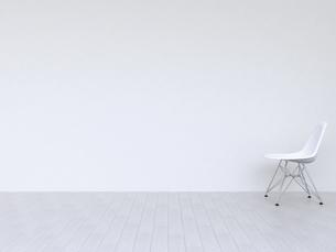 白い壁の部屋の写真素材 [FYI00166450]