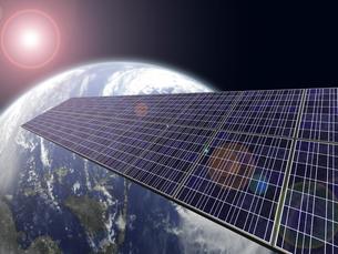 ソーラーパネルと地球の写真素材 [FYI00166488]