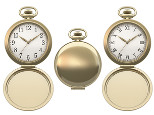 蓋付き懐中時計の写真素材 [FYI00166501]