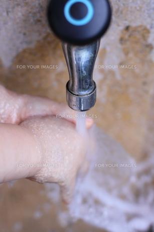 手を洗う子供の写真素材 [FYI00166663]