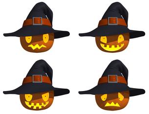 ハロウィンのかぼちゃの表情の写真素材 [FYI00168146]