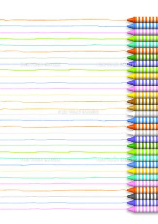 色とりどりのクレヨンと線の素材 [FYI00168163]