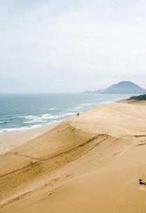 鳥取砂丘と日本海の写真素材 [FYI00168656]