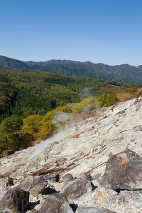 奥塩原新湯爆裂火口跡の写真素材 [FYI00168702]