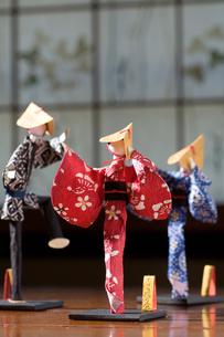 おわら風の盆の紙人形の写真素材 [FYI00168737]