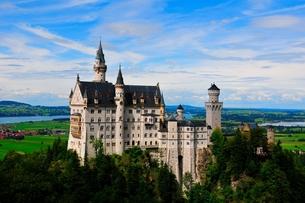 ノイシュバンシュタイン城 ルートヴィヒニ世の夢の写真素材 [FYI00168859]