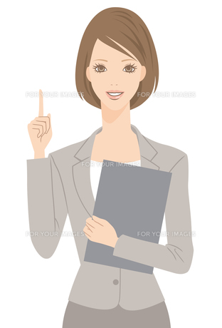 スーツを着た女性の写真素材 [FYI00169210]
