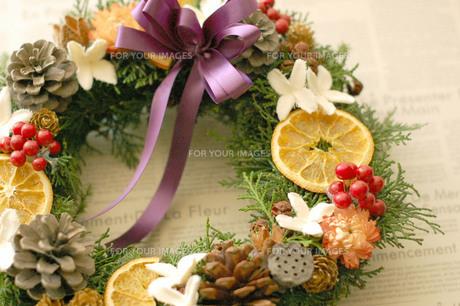 クリスマスリースの写真素材 [FYI00169256]