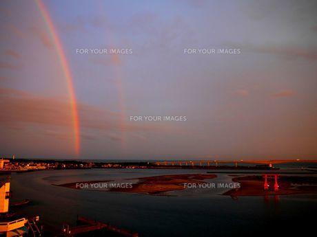 浜名湖の弁天島と虹の素材 [FYI00169633]
