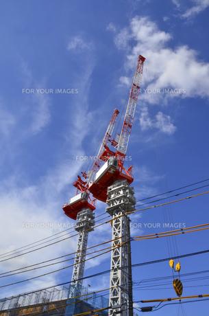 ビルの基礎工事の写真素材 [FYI00169699]