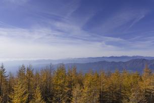 富士山から見た青空と山脈の写真素材 [FYI00169700]