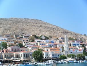 ギリシャ・ハルキ島の町並みの写真素材 [FYI00169811]