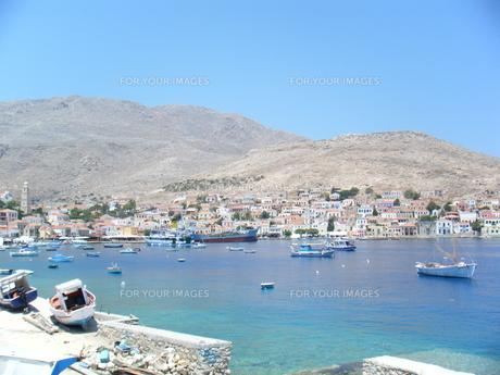 ギリシャ・ハルキ島の町並みの写真素材 [FYI00169819]