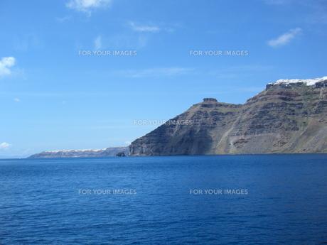 サントリーニ島の断崖絶壁の素材 [FYI00169820]