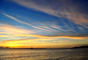 夕映えの雲の写真素材 [FYI00169861]