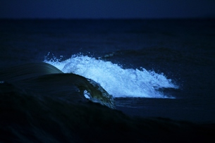 暗闇を走る波の写真素材 [FYI00171220]