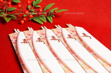 祝い箸の写真素材 [FYI00171530]
