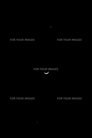 月と金星と木星の写真素材 [FYI00171577]