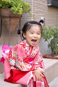 振袖を着た女の子の写真素材 [FYI00171664]