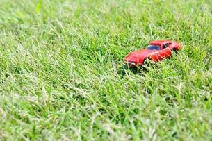 芝生の上のミニカーの写真素材 [FYI00171670]