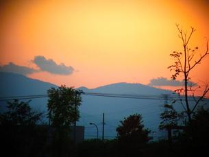 夕焼けの写真素材 [FYI00171838]