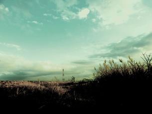 鉄塔と空の素材 [FYI00172013]