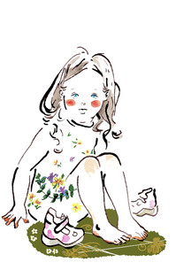 裸足の女の子の素材 [FYI00172192]