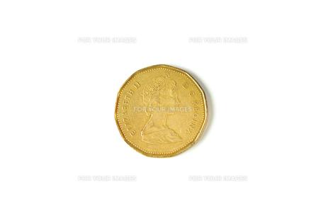 1カナダドル硬貨の写真素材 [FYI00172859]