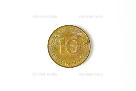 10ペニヒ硬貨の写真素材 [FYI00172872]