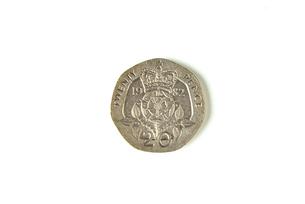 20ペンス硬貨の写真素材 [FYI00172881]