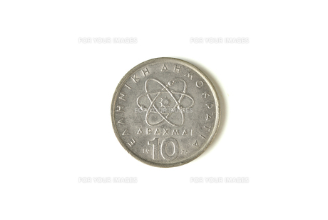 10ドラクマ硬貨の写真素材 [FYI00172885]