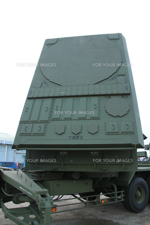 対空ミサイルパトリオットのレーダーの写真素材 [FYI00173722]