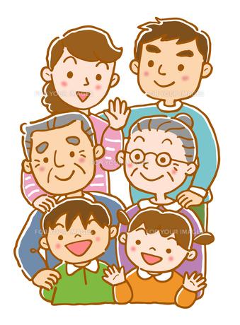 3世代家族の写真素材 [FYI00174046]