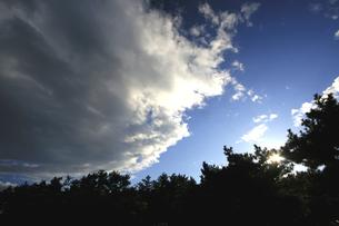 白い雲と日差しの写真素材 [FYI00174888]