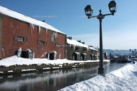 小樽運河の写真素材 [FYI00175149]