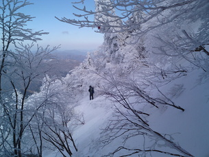 白銀登山道の写真素材 [FYI00175201]