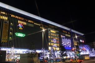 JR博多シティのイルミネーション夜景の写真素材 [FYI00176006]