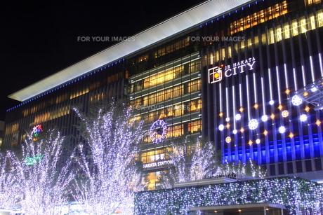 JR博多シティのイルミネーション夜景の素材 [FYI00176023]